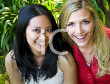Royalty Free Photo of Two Women Smiling