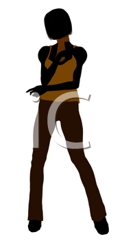 Royalty Free Clipart Image of a Girl in Casual Clothes