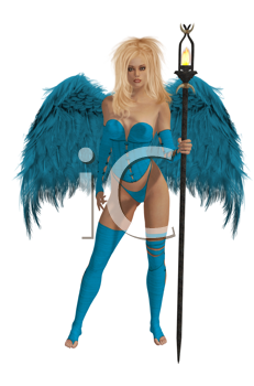 Royalty Free Clipart Image of an Angel