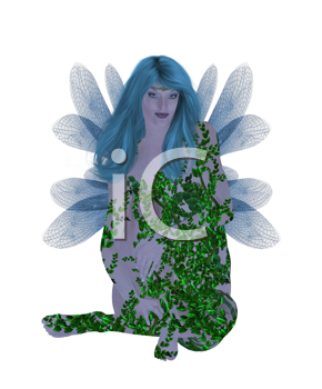 Royalty Free Clipart Image of a Translucent Fairy