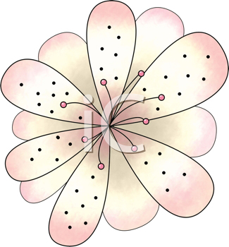 Royalty Free Clipart Image of a Pink Blossom