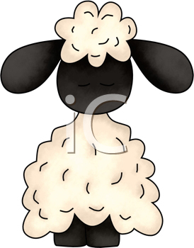 Royalty Free Clipart Image of a Sheep