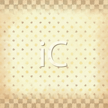 Royalty Free Clipart Image of a Checked and Dotted Background