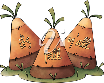 Royalty Free Clipart Image of Candy Corn