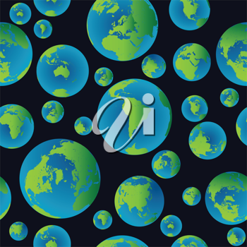 Background pattern with planet Earth