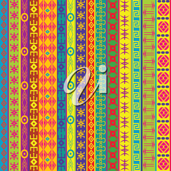 Colorful background with ethnic motifs