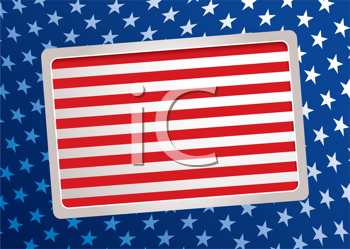 Royalty Free Clipart Image of an American Flag Inspired Background