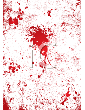 Royalty Free Clipart Image of a Red Spattered Wall