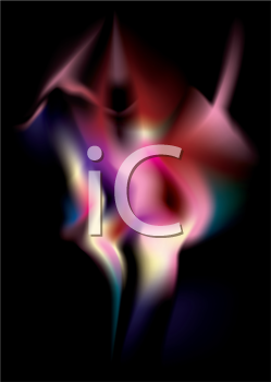 Royalty Free Clipart Image of a Spectral Image on Black