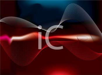 Royalty Free Clipart Image of a Background With Flowing Lines