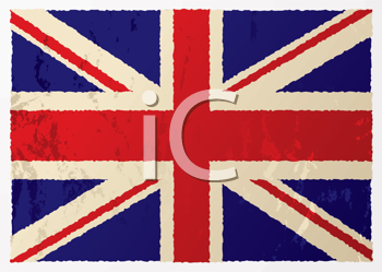 Royalty Free Clipart Image of a British Flag