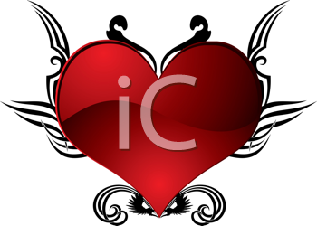 Royalty Free Clipart Image of an Abstract Heart