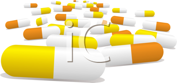 Royalty Free Clipart Image of a Capsule