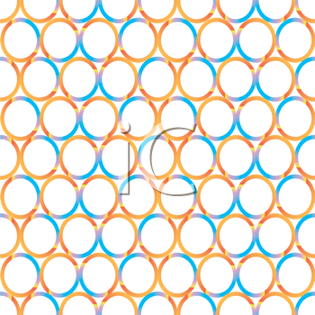 Royalty Free Clipart Image of a Circle Pattern in Blue and Orange