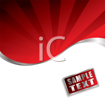 Royalty Free Clipart Image of a Red and White Background With Space for Text