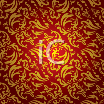 Royalty Free Clipart Image of a Red and Gold Background