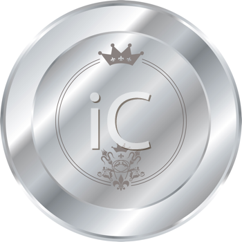 Royalty Free Clipart Image of a Silver Button