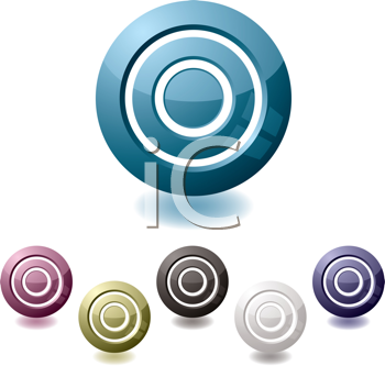 Royalty Free Clipart Image of a Set of Targets