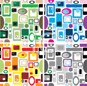 Royalty Free Clipart Image of a Retro Wallpapers
