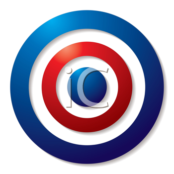 Royalty Free Clipart Image of a Tri-Colour Target