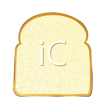 Royalty Free Clipart Image of a Slice of White Bread