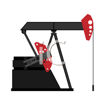 Royalty Free Clipart Image of an Oil Pump