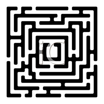 Royalty Free Clipart Image of a Square Maze on White