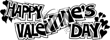 Royalty Free Clipart Image of a Happy Valentine's Day Banner