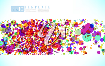 Royalty Free Clipart Image of a Particle Background