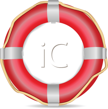 Royalty Free Clipart Image of a Life Buoy
