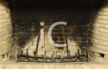 Royalty Free Photo of an Empty Fireplace