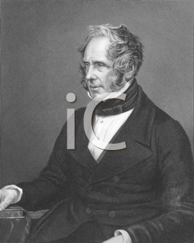 Royalty Free Photo of Henry John Temple, 3rd Viscount Palmerston on engraving from the 1850s. British statesman that served twice as Prime Minister of Great Britian in the mid 19th century. Engraved b