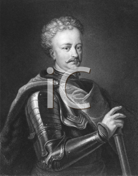 Royalty Free Photo of Peter the Great (1672-1725) on engraving from the 1800s. Emperor of Russia from 1682 to 1725. Engraved by J. Thomson and published in London by Charles Knight, Pall Mall East.
