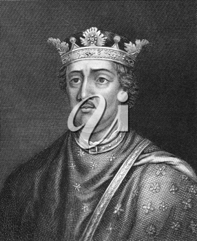 Henry II of England (1133-1189) on engraving from 1830. King of England during 1154-1189. Published in London by Thomas Kelly.