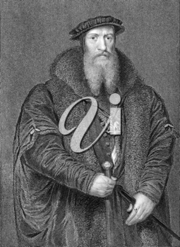William Paget, 1st Baron Paget of Beaudesert (1506-1563) on engraving from 1838. English statesman and accountant who held prominent positions in the service of Henry VIII, Edward VI and Mary I. Engra