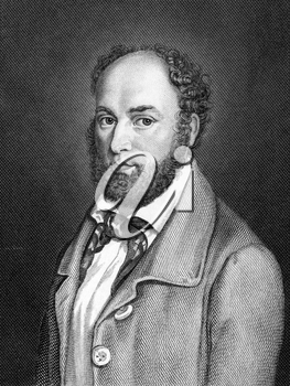 Alexander von Soiron (1806-1855) on engraving from 1859. German politician. Engraved by Kufner and published in Meyers Konversations-Lexikon, Germany,1859.