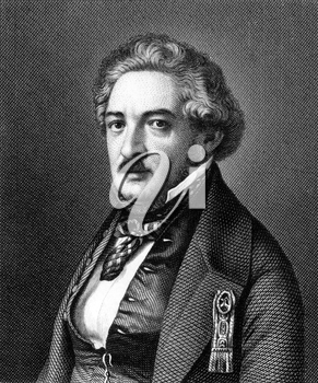 Armand Marrast (1801-1852) on engraving from 1859. French politician and mayor of Paris. Engraved by Nordheim and published in Meyers Konversations-Lexikon, Germany,1859.