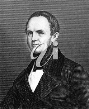 Friedrich Wilhelm von Reden (1802-1857) on engraving from 1859. German statistician and politician. Engraved by unknown artist and published in Meyers Konversations-Lexikon, Germany,1859.