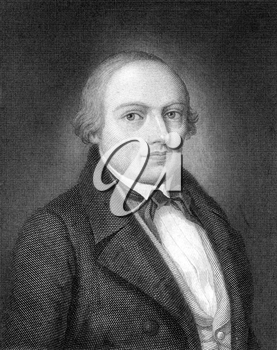 Oskar von Wydenbrugk (1815-1876) on engraving from 1859. German liberal politician. Engraved by C.A.Schwerdgeburth and published in Meyers Konversations-Lexikon, Germany,1859.