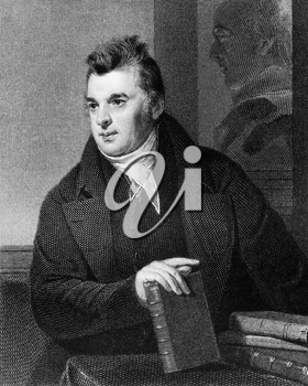 David Hosack (1769-1835) on engraving from 1835. Noted physician, botanist and educator. Engraved by A.B.Durrand and published in''National Portrait Gallery of Distinguished Americans Volume II'',USA,