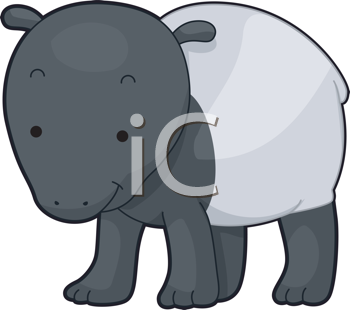 Royalty Free Clipart Image of a Tapir