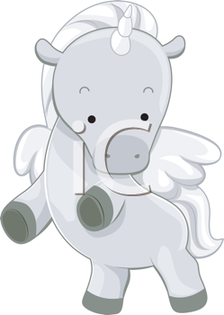 Royalty Free Clipart Image of a Unicorn