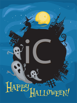 Royalty Free Clipart Image of a Halloween Frame