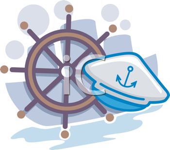 Royalty Free Clipart Image of Nautical Objects