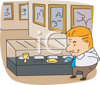 Royalty Free Clipart Image of an Archivist
