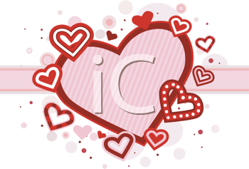 Royalty Free Clipart Image of Hearts Around a Heart