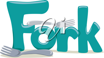 Text Illustration Featuring the Word Fork