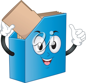 Royalty Free Clipart Image of a Binder With Files