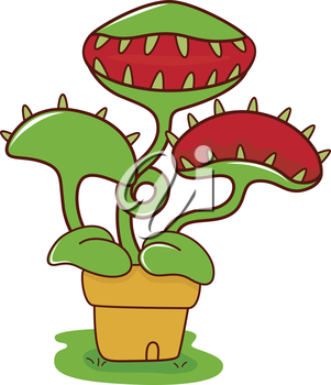 Royalty Free Clipart Image of a Venus Flying Trap
