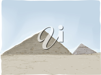 Illustration Featuring the Great Pyramids of Egypt